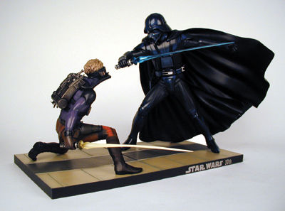 Kotobukiya Star Wars Luke Skywalker vs. Darth Vader: Ralph McQuarrie Version Vinyl Model Kit--30th Anniversary Limited Edition