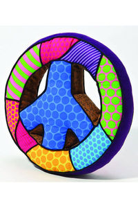Britto Large Peace Sign Pop Plush Pillow