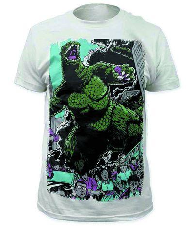Godzilla Stomp Tokyo Previews Exclusive Wht T-Shirt XL