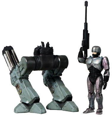 Robocop and ED-209 mini figure set