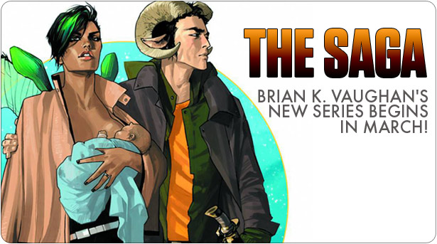 Brian K. Vaughan returns to comics this March with new Saga ongoing monthly series.