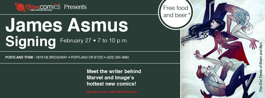 The End Times of Bram & Ben, Gambit Signing with James Asmus