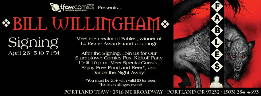 Bill Willingham Fables Signing
