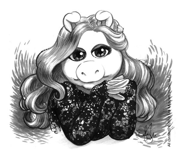 Miss Piggy CBLDF Sketch Amy Mebberson