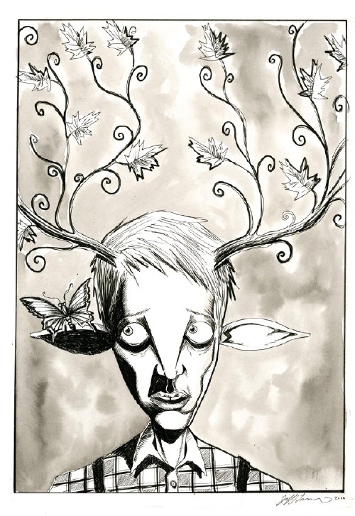 Jeff Lemire's 2010 CBLDF Sketch Card Contribution