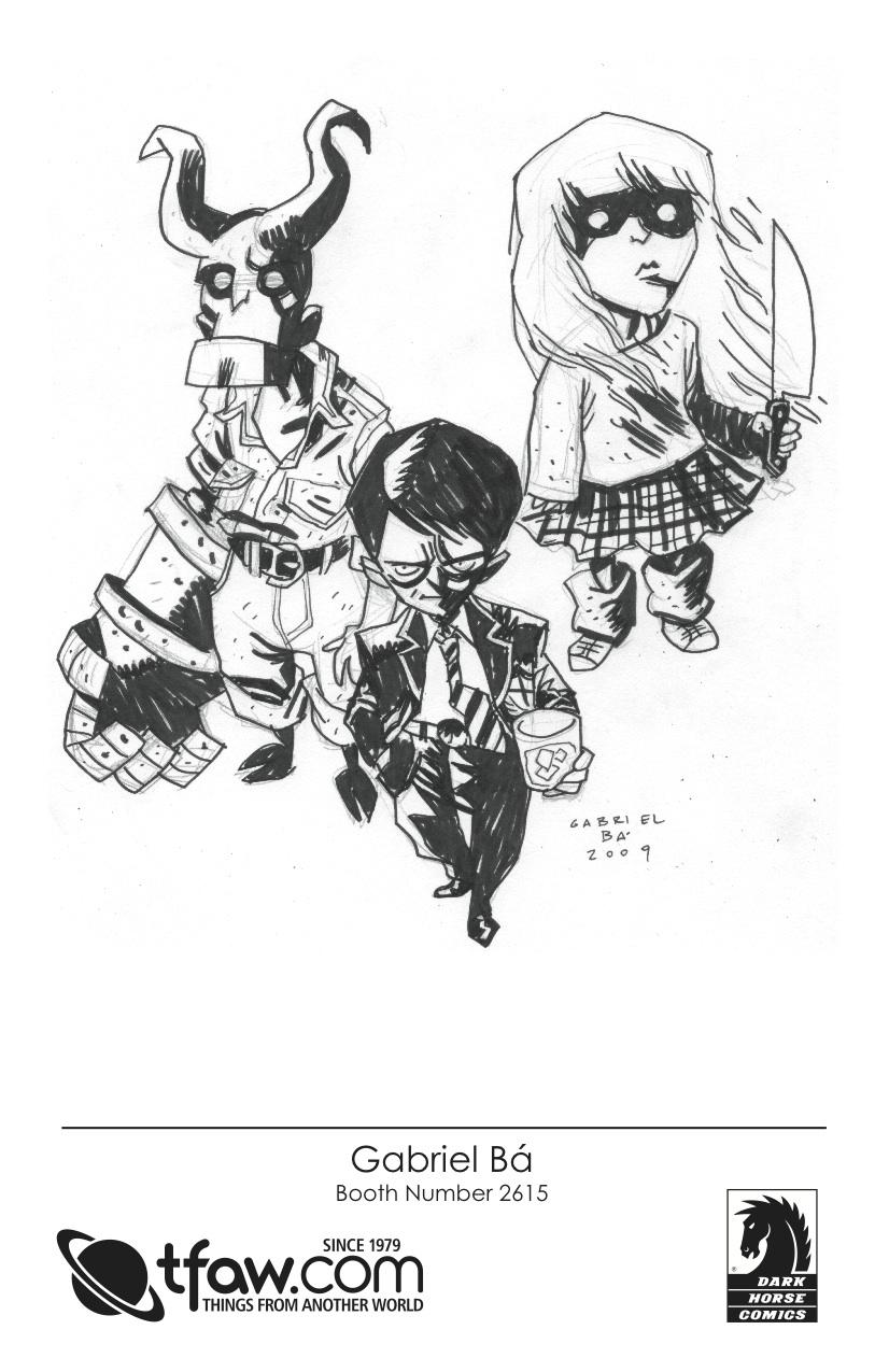 Gabriel Ba 2009 CBLDF Sketch
