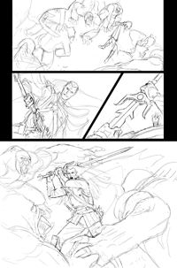 Elric FCBD #0 Page 1 pencils