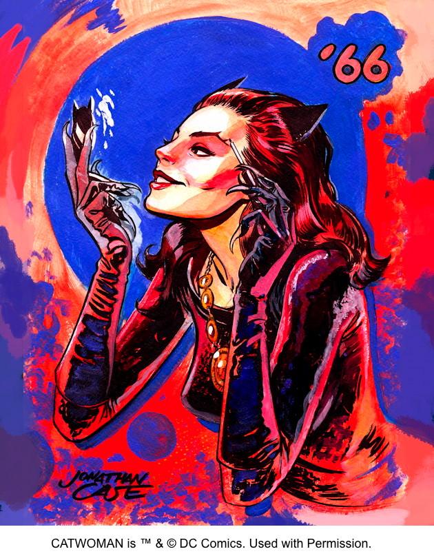 Jonathan Case Batman '66 Catwoman Sketch 2013 CBLDF
