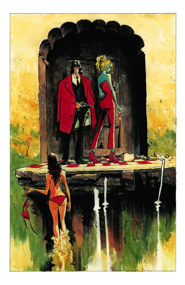 Fabio Moon's Casanova Art for the CBLDF