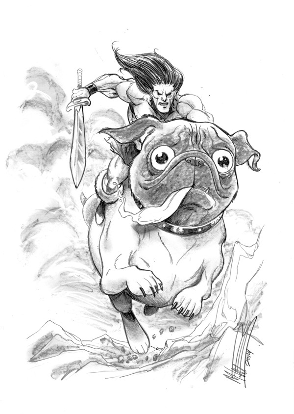 Mike Norton's Battlepug for the CBLDF