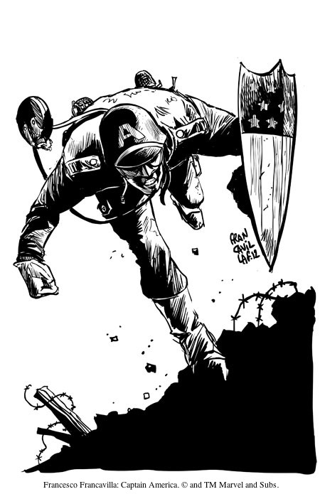 Francesco Francavilla: Captain America. © and TM Marvel and Subs.