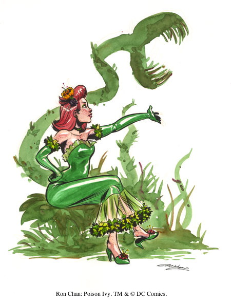 Ron Chan: Poison Ivy. TM & © DC Comics.