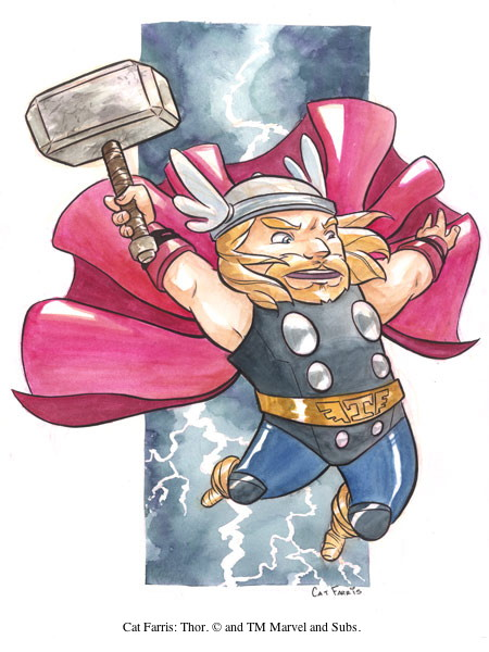 Cat Farris: Thor. © and TM Marvel and Subs.