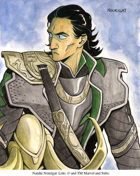 Natalie Nourigat: Loki. © and TM Marvel and Subs.