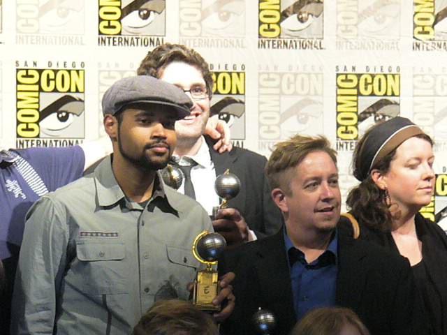 John & Rob with their shiny new award