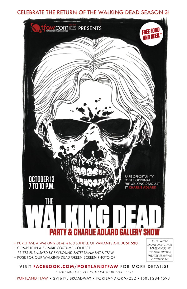 Walking Dead Party & Charlie Adlard Gallery Show