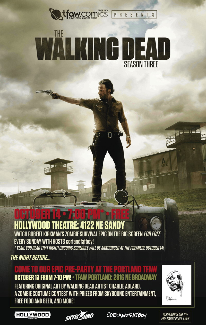 Walking Dead Season 3 Free Screenings