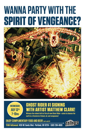Ghost Rider Signing Matthew Clark