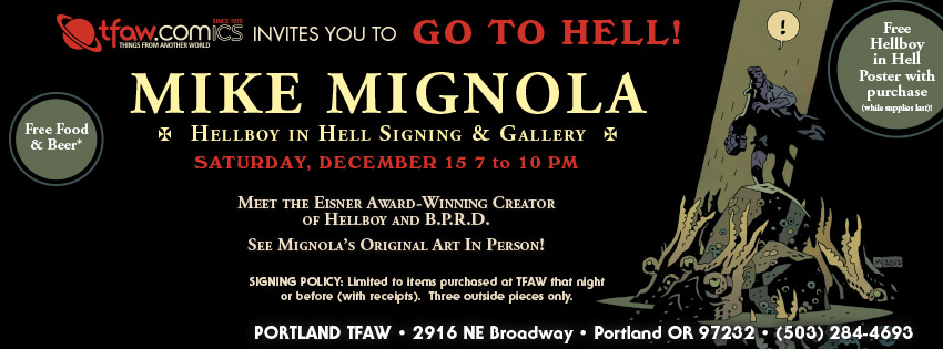 Mike Mignola Hellboy in Hell Signing Portland OR