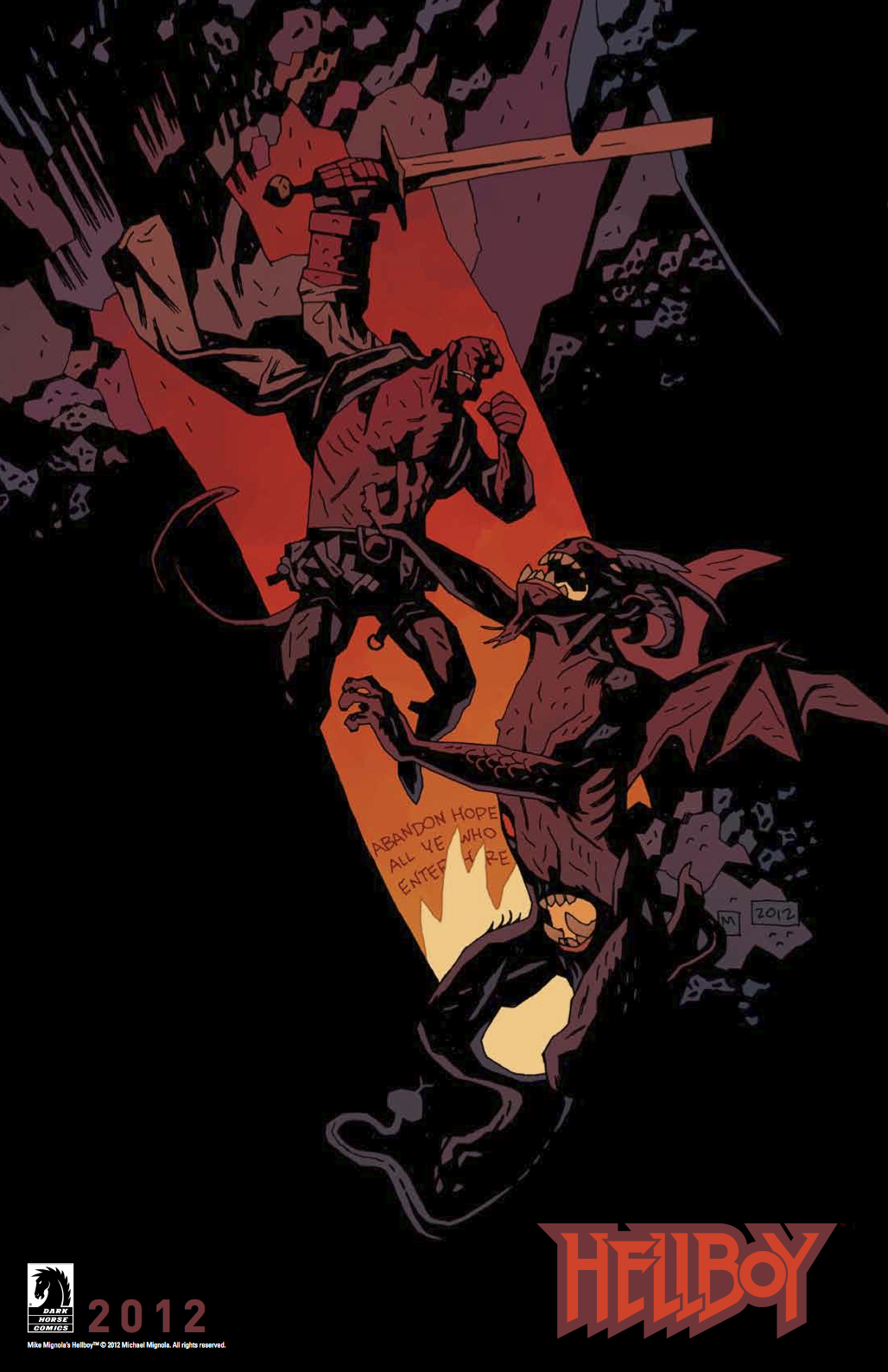 Free Hellboy in Hell Poster