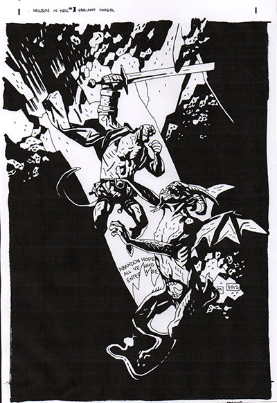 Mike Mignola Displays Original Comic Art Purchase The