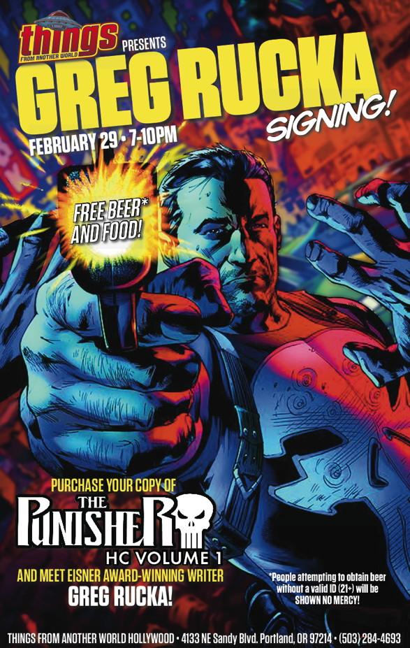 Greg Rucka Punisher Signing