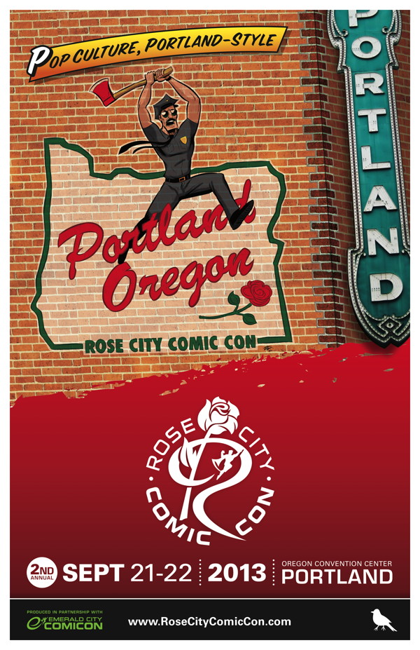 Rose City Comic Con 2013 Poster