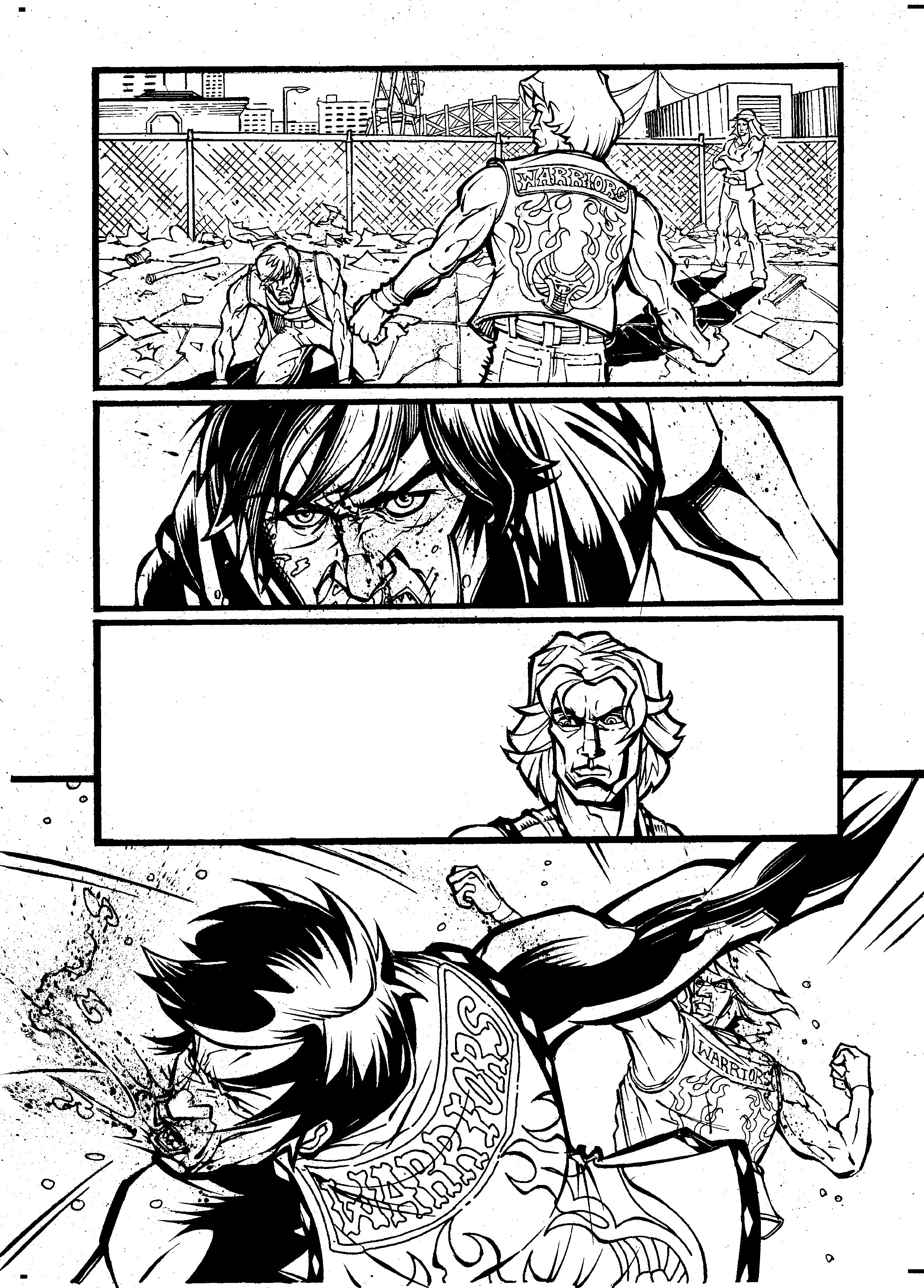 Page 2 with inks from Tom Feister