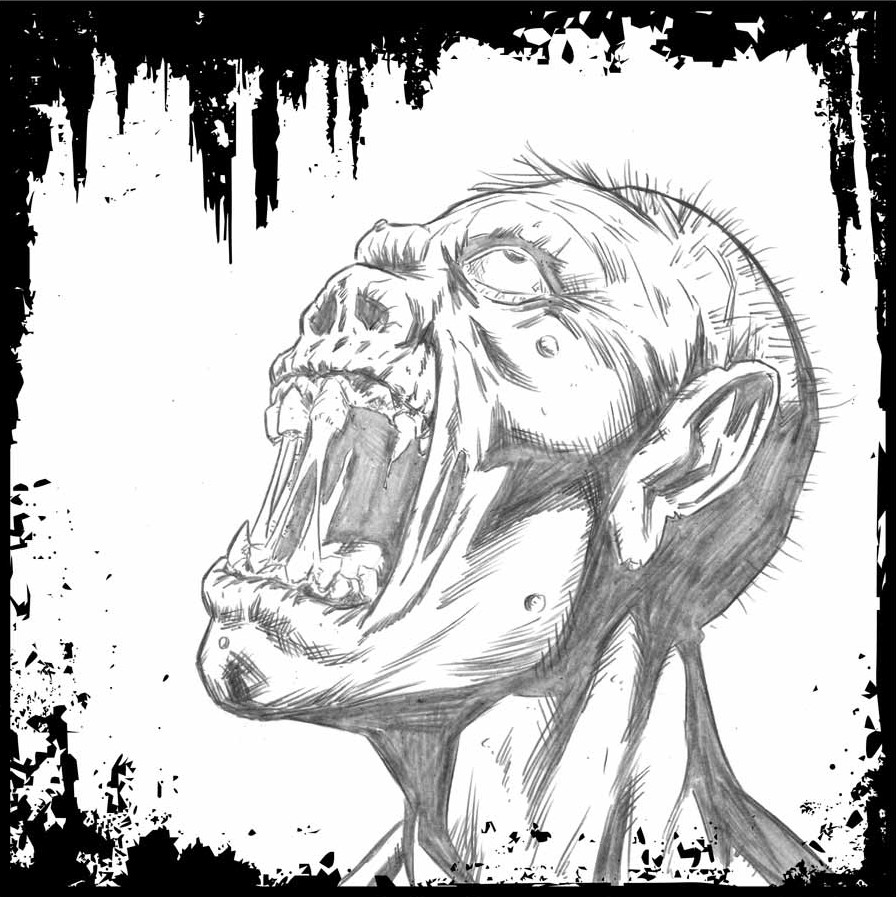 Zombie Face Line Drawing : Tfaw interviews real life monster hunter john paul russ