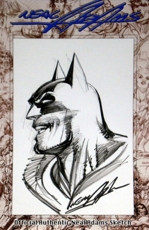 Neal Adams CBLDF Batman Head Sketch