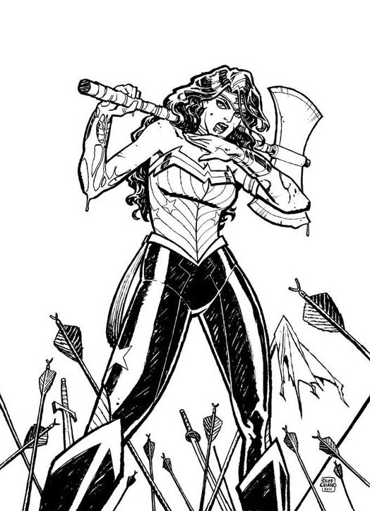 Cliff Chiang Wonder Woman CBLDF Sketch
