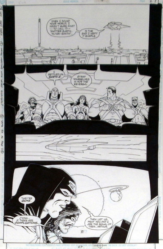 Frank Quitely CBLDF Justice League: Earth Two Page