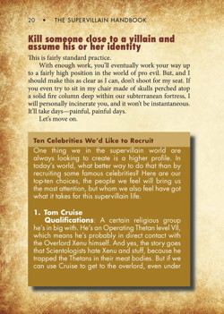 The Supervillain Handbook Preview Page 2