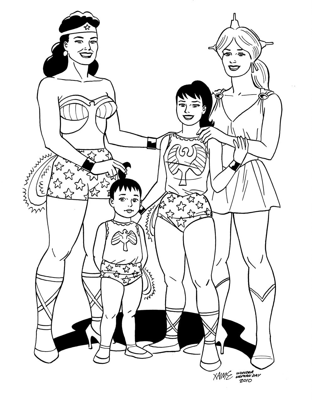 Wonder Woman Family by Jaime Hernandez